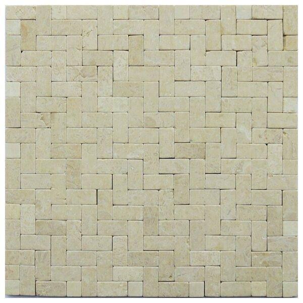 Brindisi 1 x 2 Travertine Mosaic Tile in Beige by NovoTileStudio