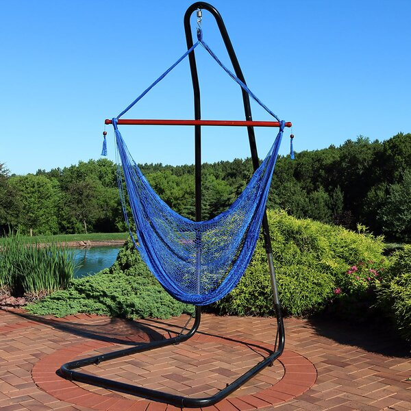 Homerville Rope Chair Hammock with Stand by Freeport Park Freeport Park