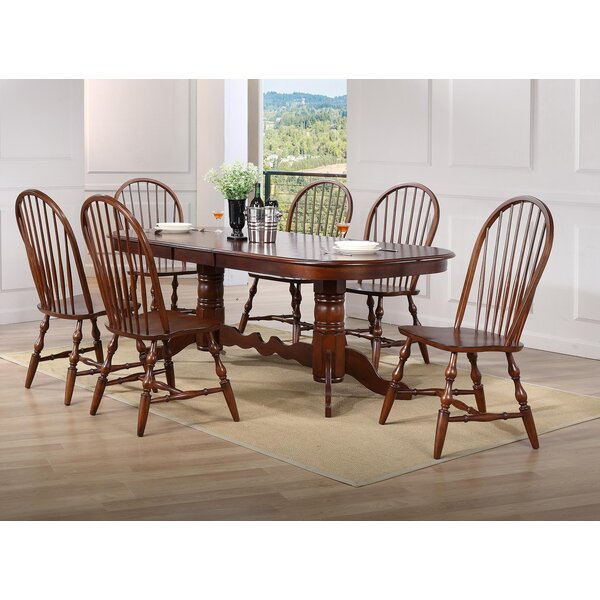 Lockwood Double Pedestal Extension 7 Piece Dining Set by Loon Peak