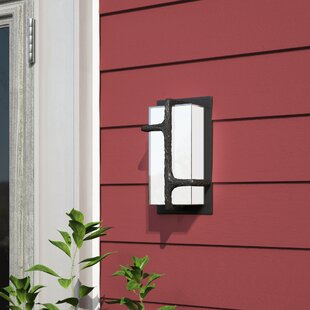 Affordable Price Sievers 1-Light Outdoor Sconce By Brayden Studio