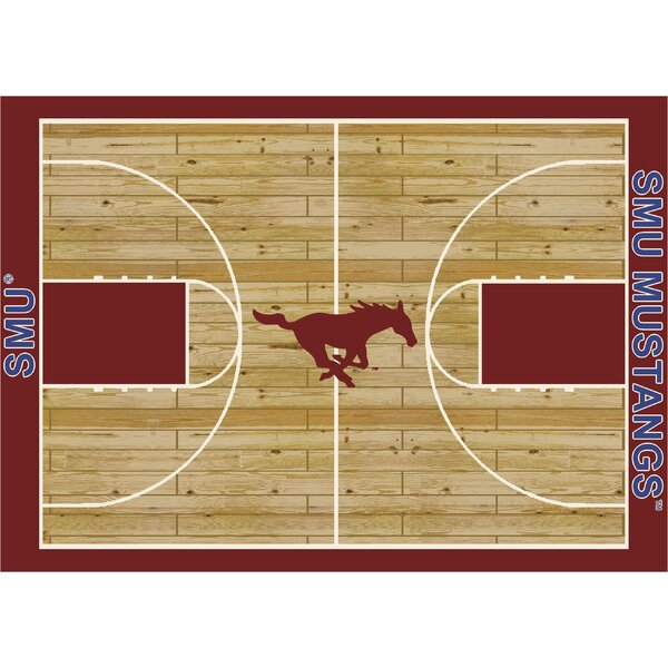 NCAA College Home Court Southern Methodist Novelty Rug by My Team by Milliken