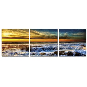 Sky and Beach 3 Piece Photographic Print Set by Furinno