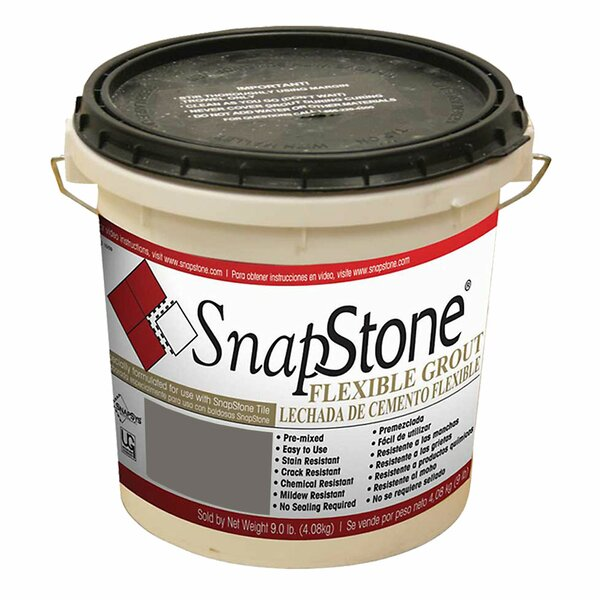 Urethane-Based Flexible Grout 9 Lb Pail In Charcoal Grey by SnapStone