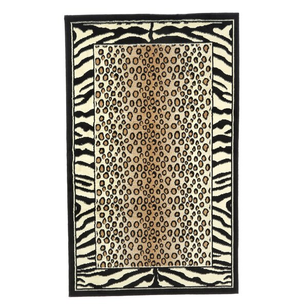 Allicia Black/Ivory Area Rug by Bloomsbury Market