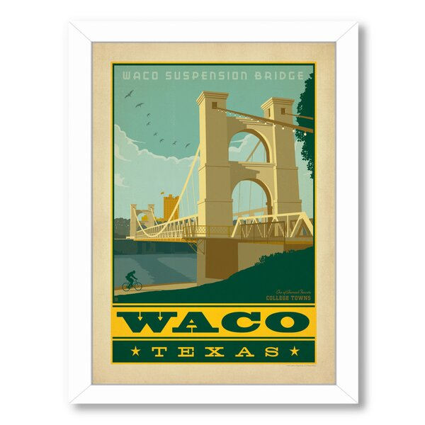 Waco Texas Framed Vintage Advertisement by East Urban Home