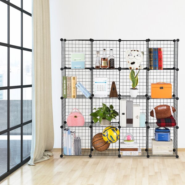 Fitzpatrick 6 Cube Corner Unit Bookcase by Rebrilliant