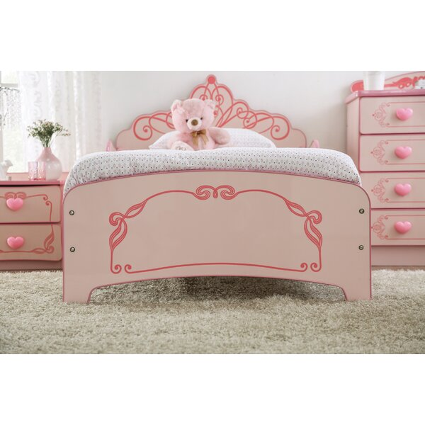 Genoa Princess Crown Single Bed by Zoomie Kids