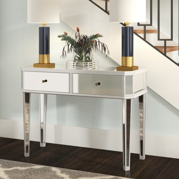 Review Alrai Mirrored Console Table