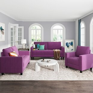 Kachelle 3 Piece Standard Living Room Set by Latitude Run®