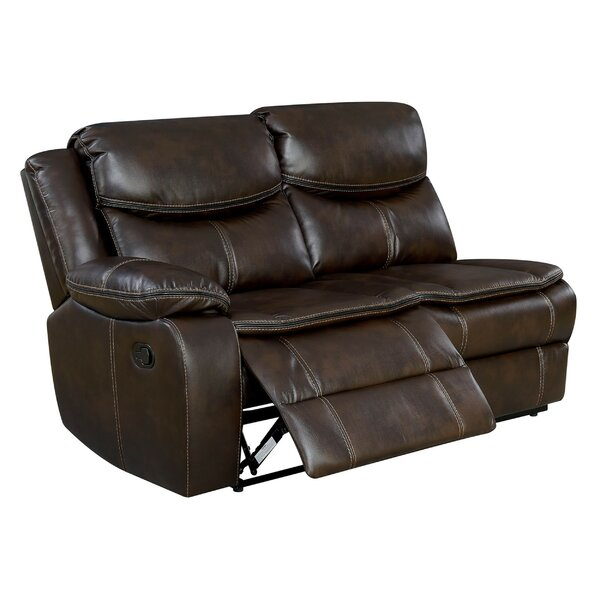 Helmer Leather Reclining Loveseat by Red Barrel Studio