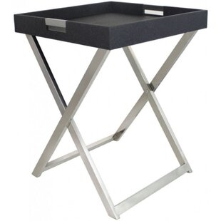 faux stringray leather side table - Leather Side Tables