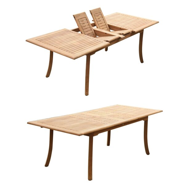 Abram Extendable Teak Dining Table by Rosecliff Heights