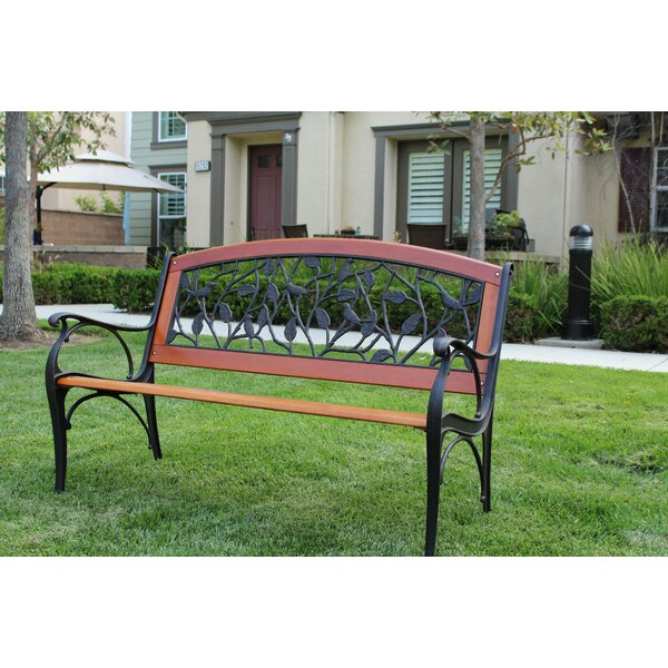 Nakamura Whimsical Birds on Branch Iron Park Bench by Canora Grey