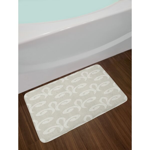 Damask Geometric Bath Rug by East Urban Home