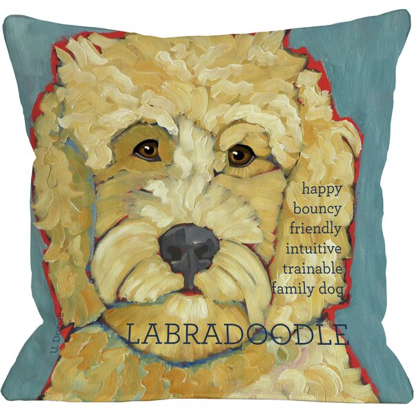 Doggy Décor Labradoodle I Throw Pillow by One Bella Casa
