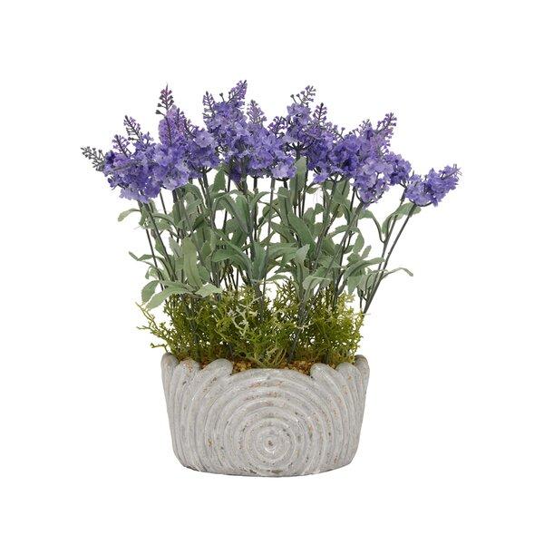 Lavender Desktop Floral Arrangement in Pot by August Grove