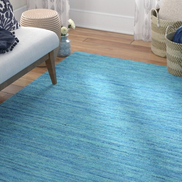 Fagan Hand Woven Blue Area Rug by Bungalow Rose