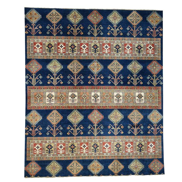 One-of-a-Kind Tillett Special Southwest Hand-Knotted Navy Blue Area Rug by Millwood Pines