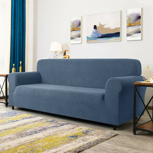 Thikui Elastic Box Cushion Loveseat Slipcover By Winston Porter