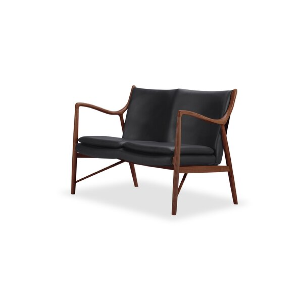 Rashad Leather Loveseat by Corrigan Studio