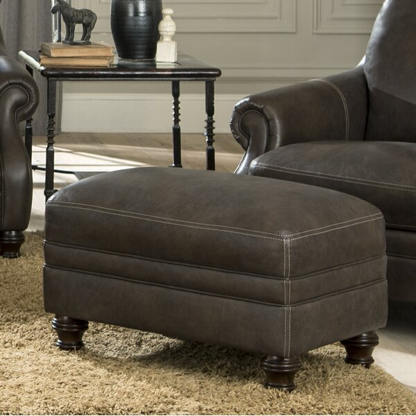 Shantell Leather Ottoman by Darby Home Co
