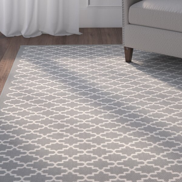 Bexton Anthracite/Beige Indoor/Outdoor Area Rug by Alcott Hill