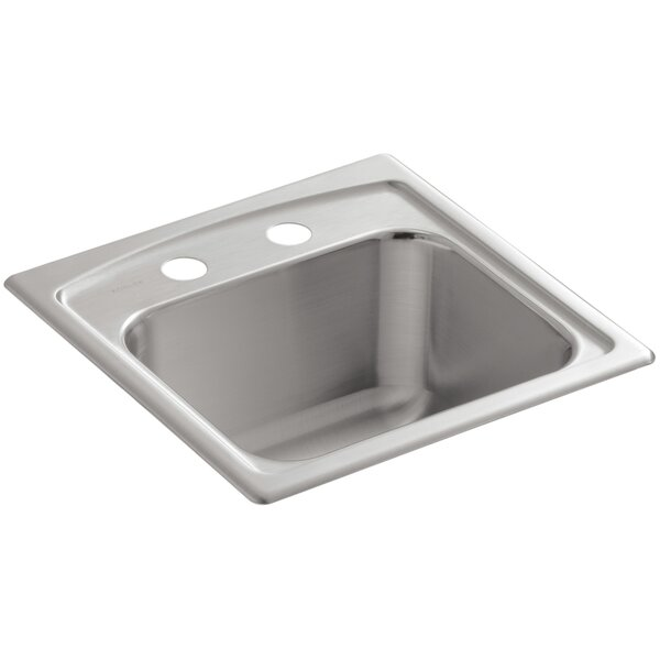 Toccata Top-Mount Bar Sink with 2 Faucet Holes by Kohler