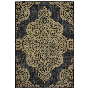 Salerno Over-scale Medallion Tan Indoor/Outdoor Area Rug ByCharlton Home