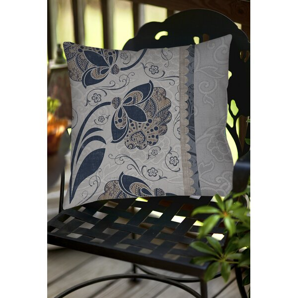 Elegante 5 Indoor/Outdoor Throw Pillow by Manual Woodworkers & Weavers