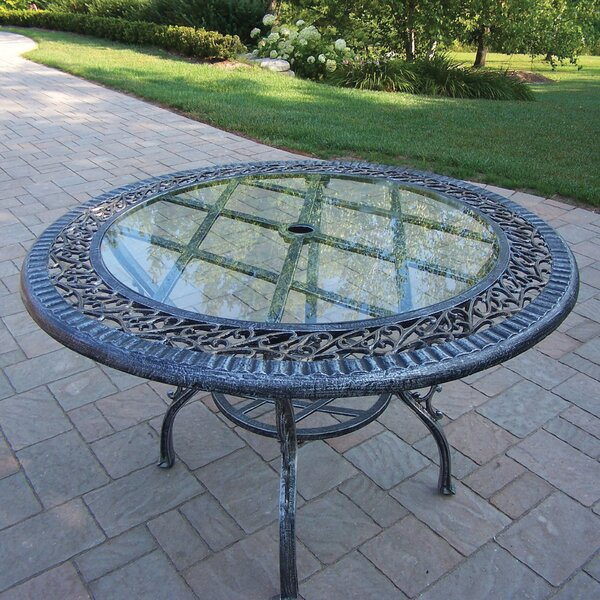 Mississippi Glass Top Aluminum Dining Table by Oakland Living