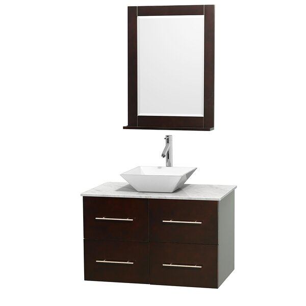 Centra 36 Single Espresso Bathroom Vanity Set with Mirror by Wyndham Collection