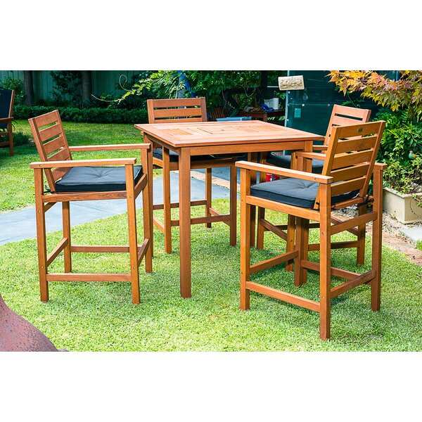Esperance 5 Piece Bar Height Dining Set with Cooler Insert by Bayou Breeze