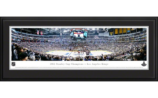 NHL 2012 Stanley Cup Champions - Los Angeles Kings Deluxe Framed Photographic Print by Blakeway Worldwide Panoramas, Inc