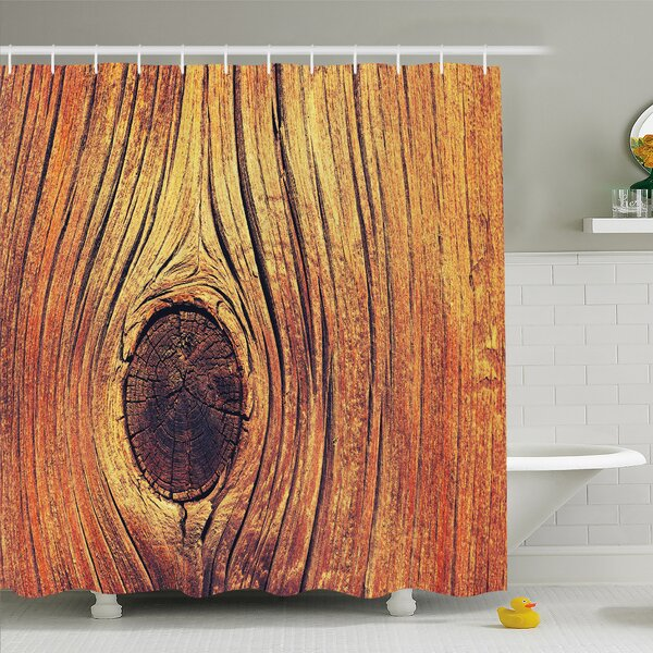 Rustic Home Life Tree Concept with Divided Core Macro Circles Habitat Natural Wonder Shower Curtain Set by Ambesonne