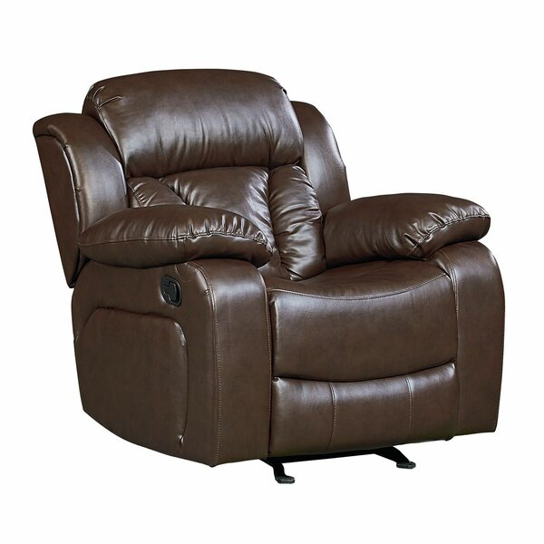 Delaney Faux Leather Rocker Recliner [Red Barrel Studio]