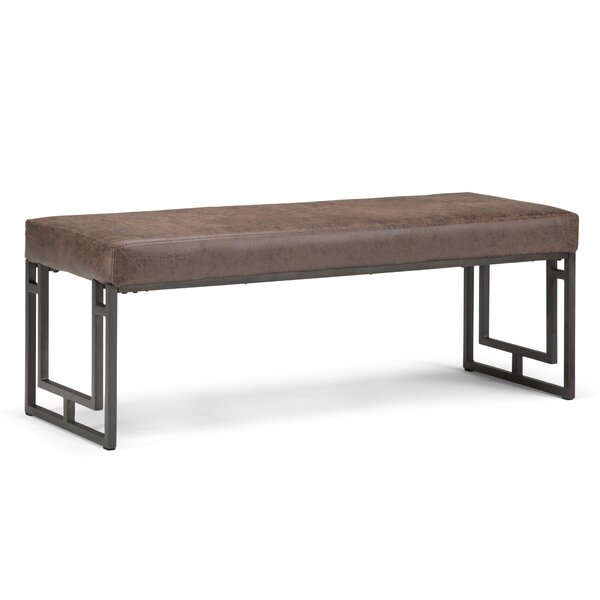 Sunburg Faux Leather Bench by Williston Forge Williston Forge