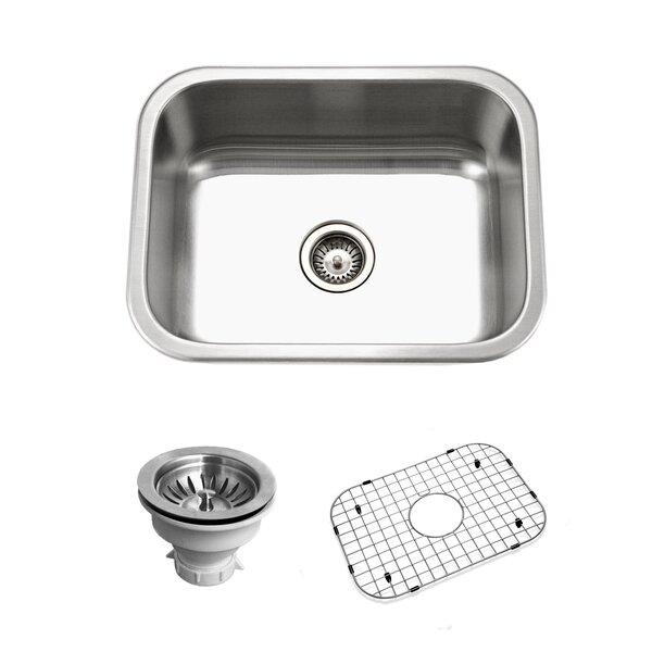 Belleo 23.19 L x 17.94 W Topmount Single Bowl Kitchen Sink