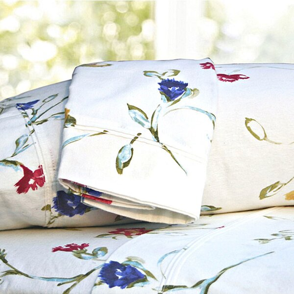 Ryleigh Garden Printed Extra Deep Pocket Flannel Sheet Set by August Grove