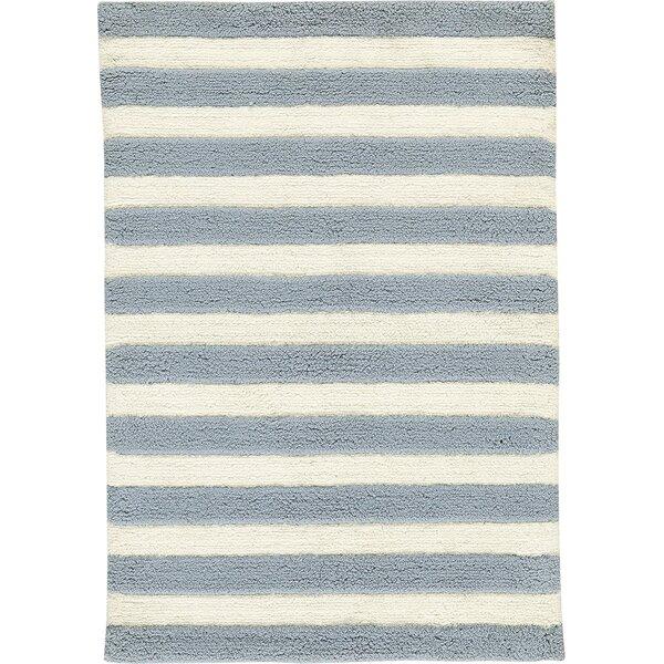 Hand-Woven Slate/IvoryArea Rug by Birch Lane™