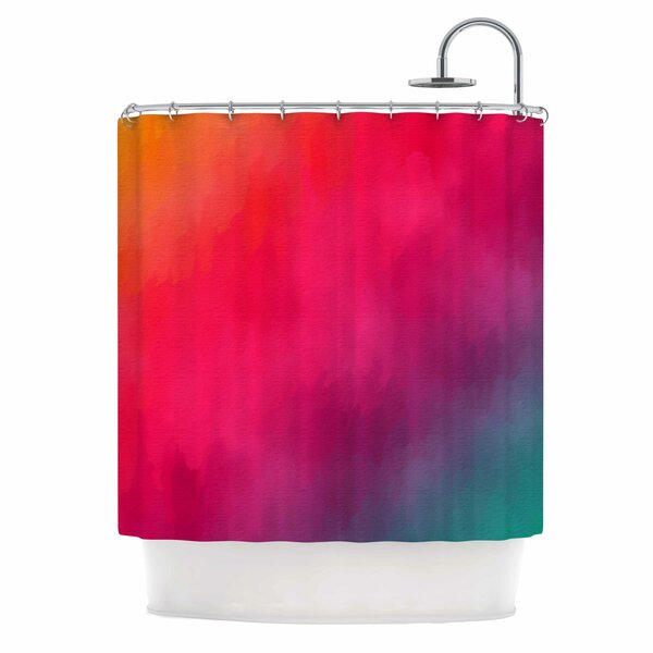 Rainbow Loon by Fotios Pavlopoulos Abstract Shower Curtain by East Urban Home