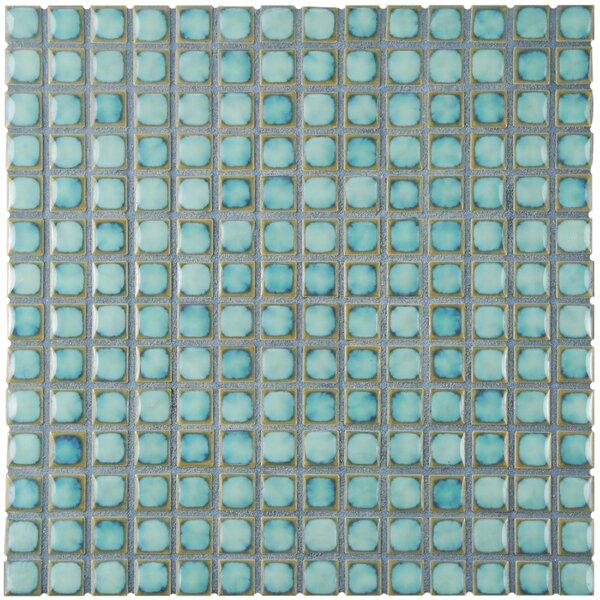 Morgan 0.72 x 0.72 Porcelain Mosaic Tile in Marine Blue by EliteTile