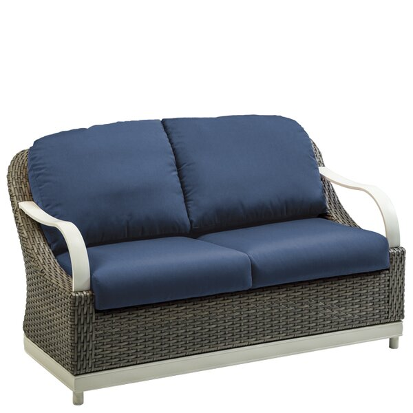 Shoreline Woven Loveseat with Cushion by Tropitone