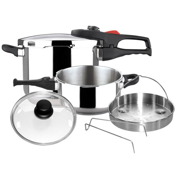 Practika Plus 6 Piece Pressure Stainless Steel Cookware Set by Magefesa