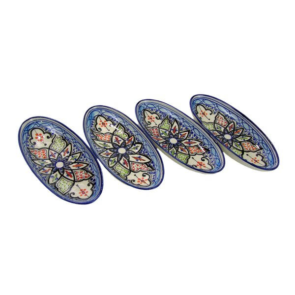 Tibarine Stoneware Platter (Set of 4) by Le Souk Ceramique