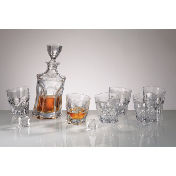 Acapulco Cystalite Bohemia 7 Piece Beverage Serving Set by Red Vanilla