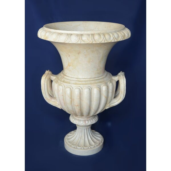 Vintage American Style Marble Urn Planter by The Silver Teak