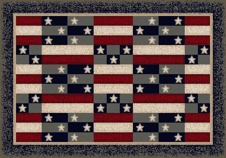 Summer American Patchwork Novelty Rug by Milliken