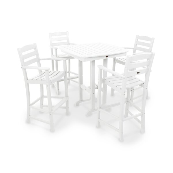 La Casa Café 5-Piece Bar Height Dining Set by POLYWOOD®