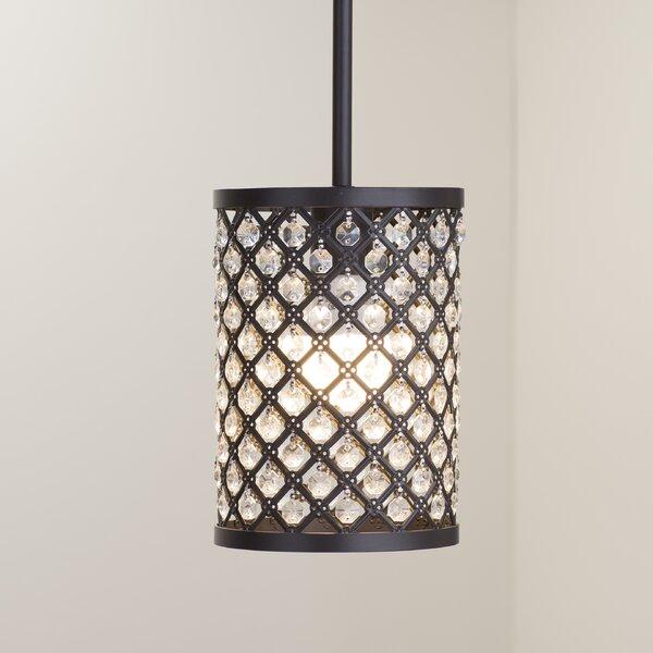 Senters 1-Light Cylinder Pendant by Willa Arlo Interiors