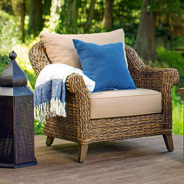 Beckwith Patio Chair with Cushion by Canora Grey